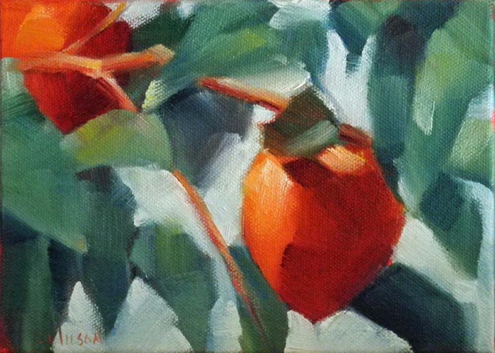 """Persimmons"" original fine art by Cheryl Wilson"