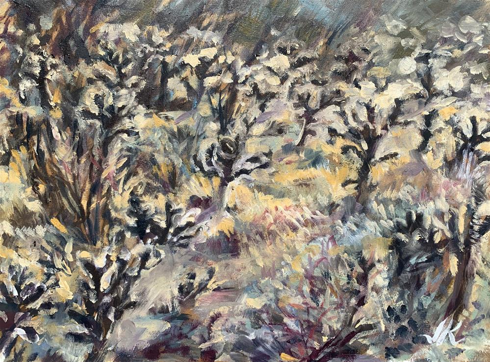 """""""Field of Chollas"""" original fine art by Jean Krueger"""