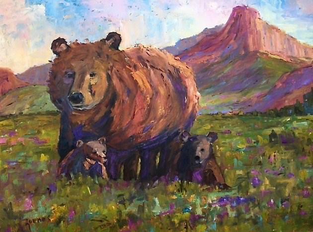 """Out for a Stroll"" original fine art by Liz Zornes"