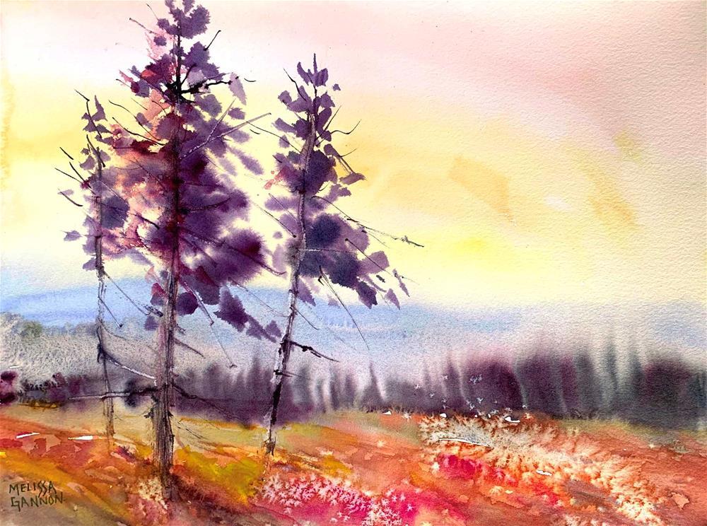 """Dancing Nature"" original fine art by Melissa Gannon"