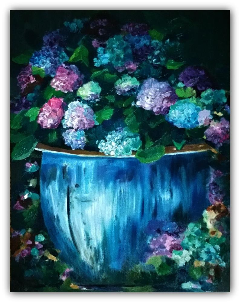 """My Pots Full"" original fine art by Dana C"