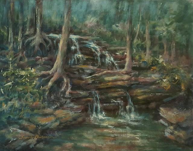 """Lower Falls of Sanctuary"" original fine art by Tammie Dickerson"