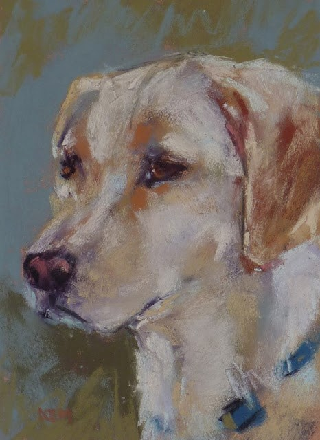"""Painting a Pet Portrait with Pastels....My Favorite Tip"" original fine art by Karen Margulis"