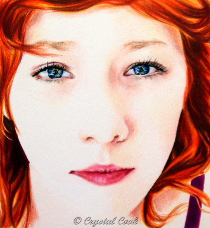 """""""Flawless"""" original fine art by Crystal Cook"""
