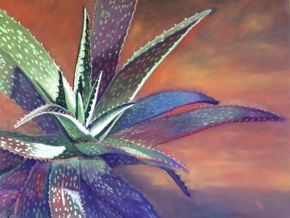"""Aloe at Sunset"" original fine art by Anna Lisa Leal"
