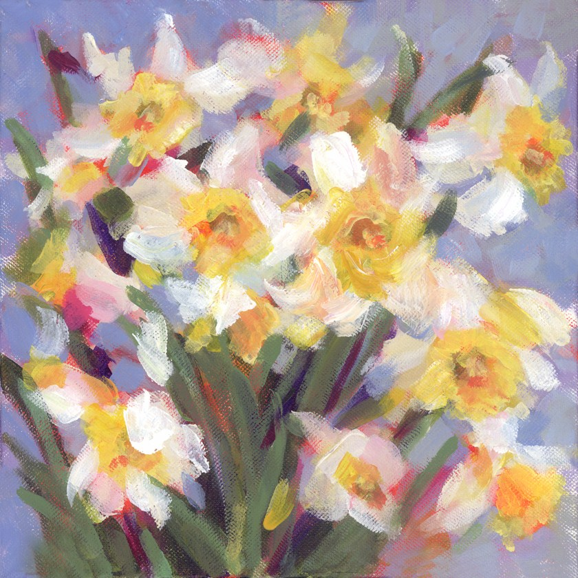 """Daily Daffodils"" original fine art by Pamela Gatens"