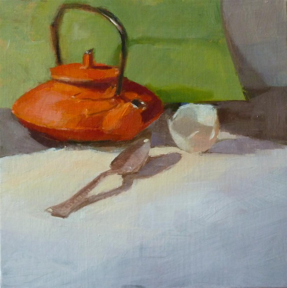 """Egg Shell & Spoon"" original fine art by Ron Ferkol"