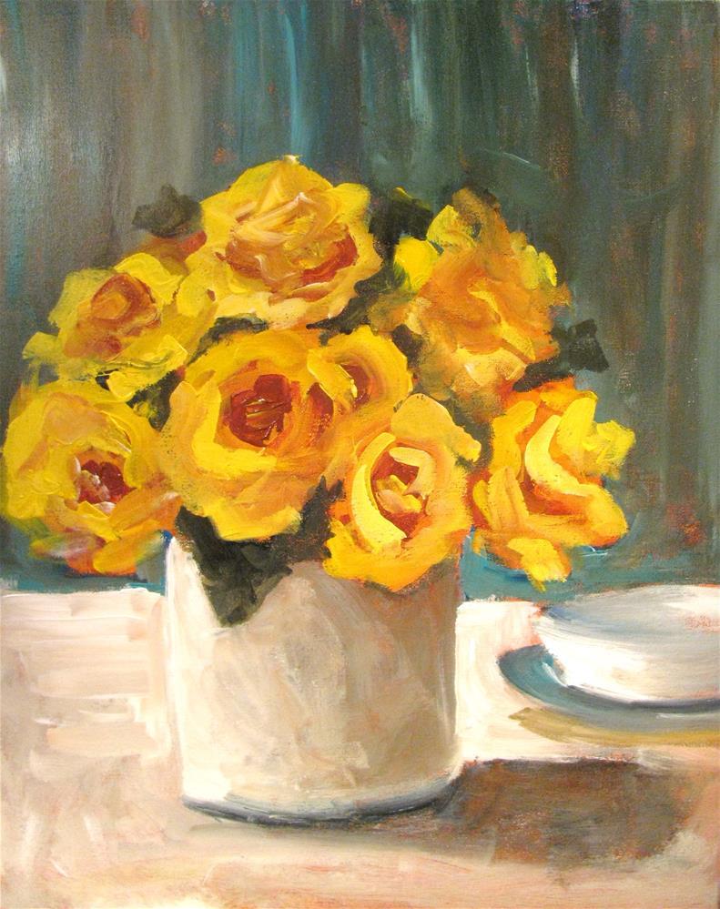 """Golden Celebration"" original fine art by Susan Elizabeth Jones"