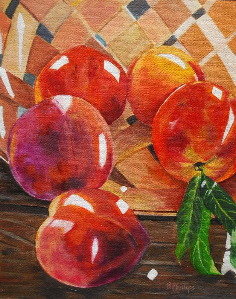 """""""Peaches for my father"""" original fine art by Beverley Phillips"""