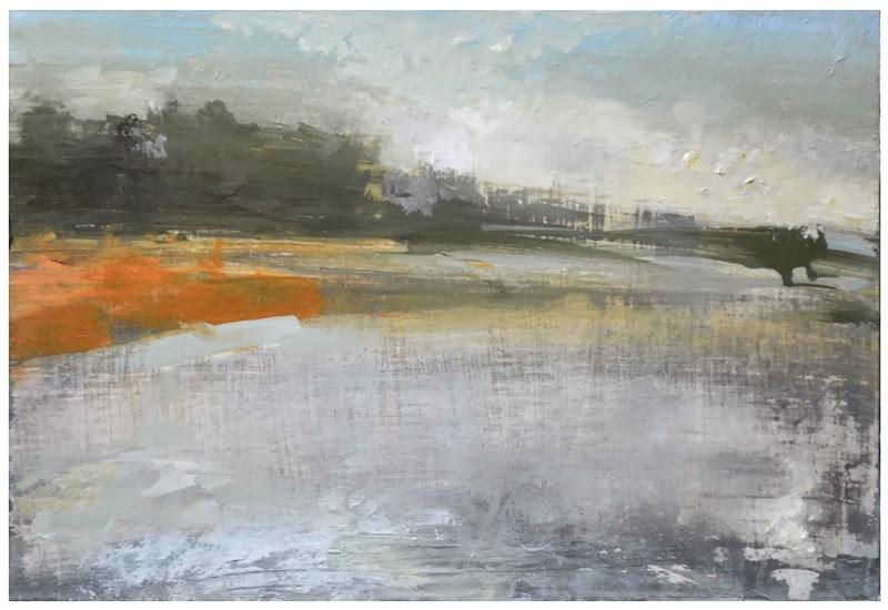 """Frozen river"" original fine art by Steven Goodman"