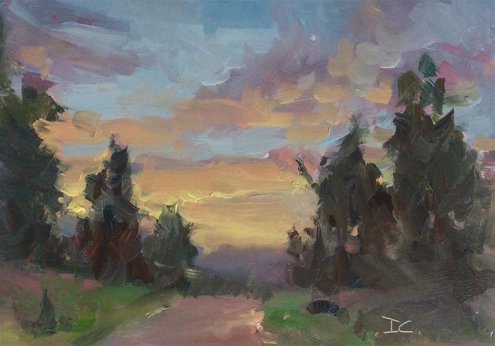 """""""Forest Sky"""" original fine art by Doug Carter"""