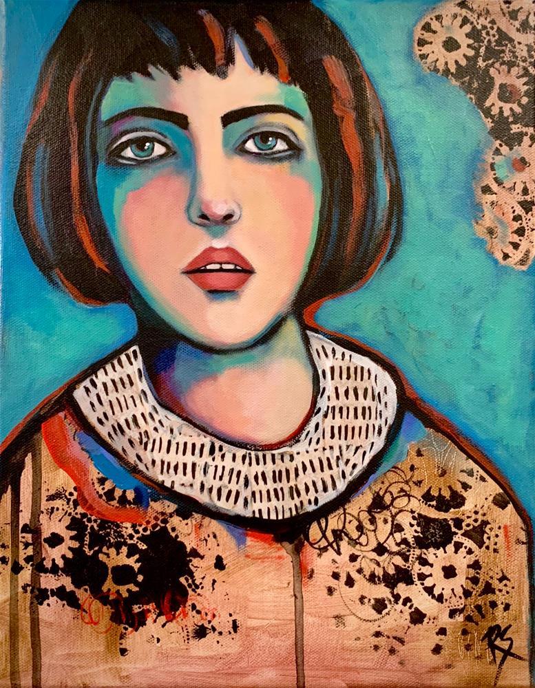 """""""Patiently Waiting"""" original fine art by Roberta Schmidt ArtcyLucy"""