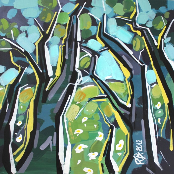 """Tree abstraction 14"" original fine art by Roger Akesson"