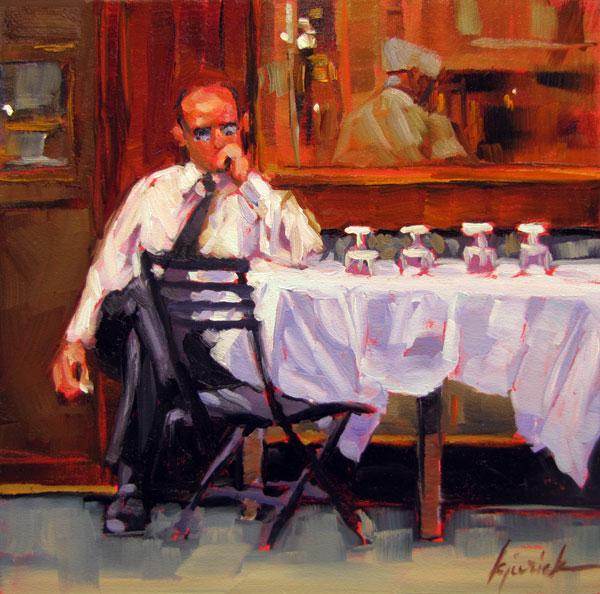 """Mr. Cool"" original fine art by Karin Jurick"