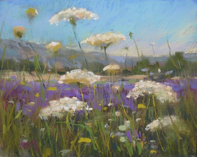 """Painting Provence Part 6.....A Good Year for Wildflowers"" original fine art by Karen Margulis"