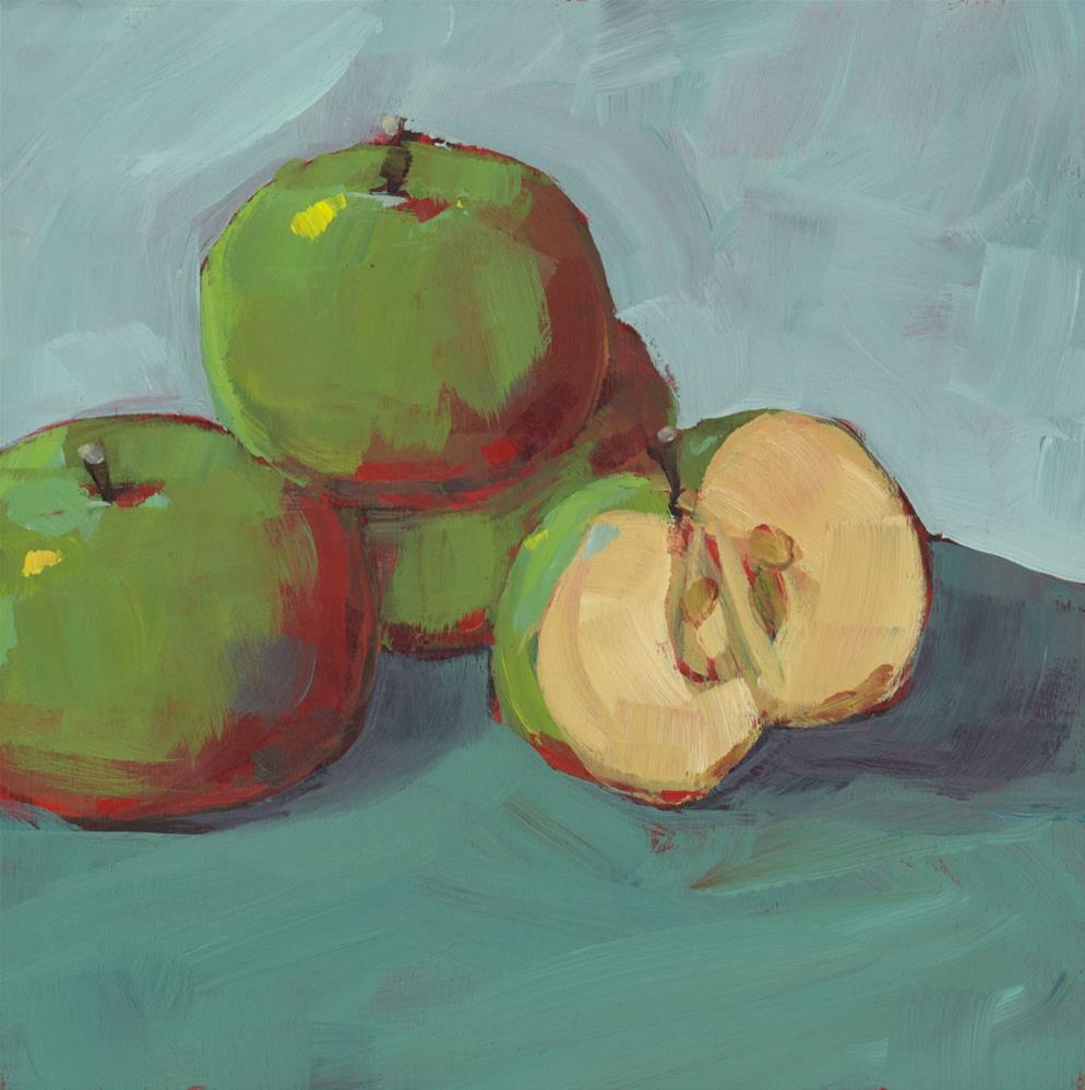 """0991: Little Lady Apples"" original fine art by Brian Miller"