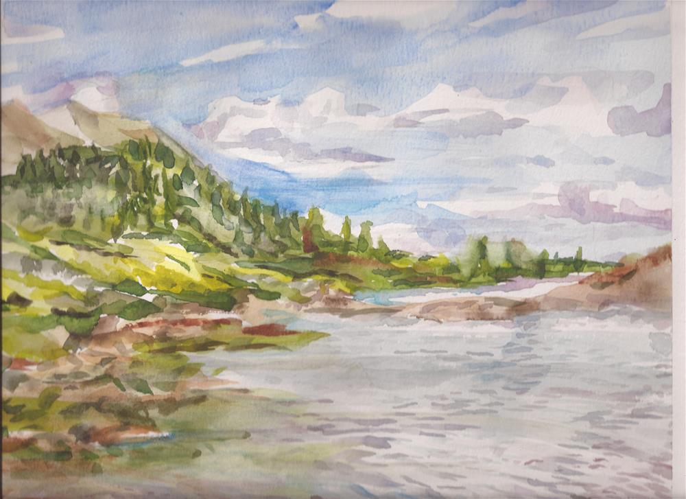 """Upper Goodwin Lake, Sangre de Cristos, Colorado"" original fine art by Jean Krueger"
