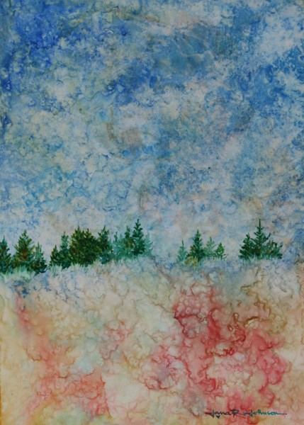 """""""At The Top Of The Hill"""" original fine art by Jana Johnson"""