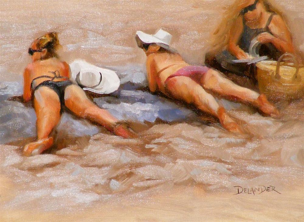 """Watching the Boys"" original fine art by Diana Delander"