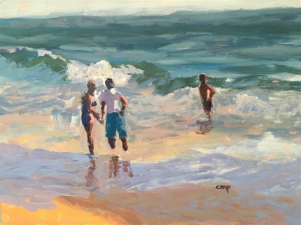 """Figurative Seascape 1/24/16"" original fine art by Christine Parker"