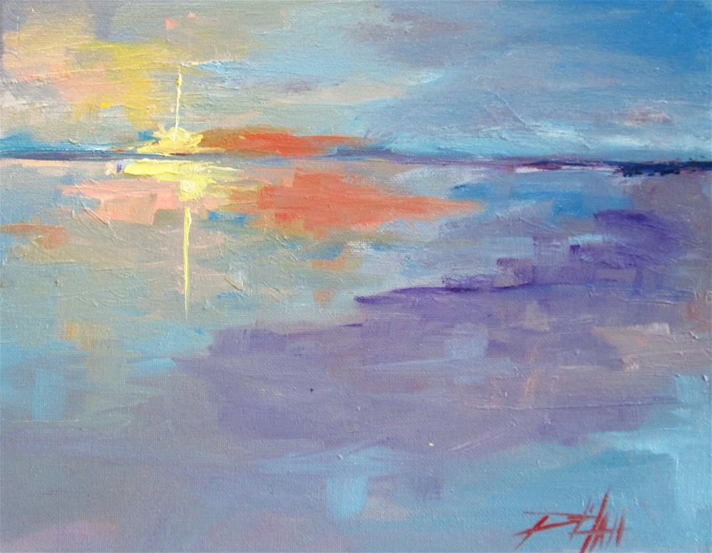 """""""Ocean Sunset"""" original fine art by Delilah Smith"""