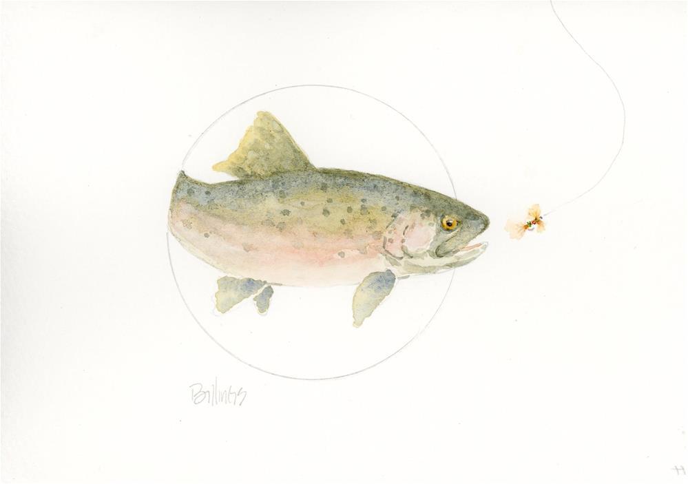 """""""Trout Study VI"""" original fine art by Susanne Billings"""