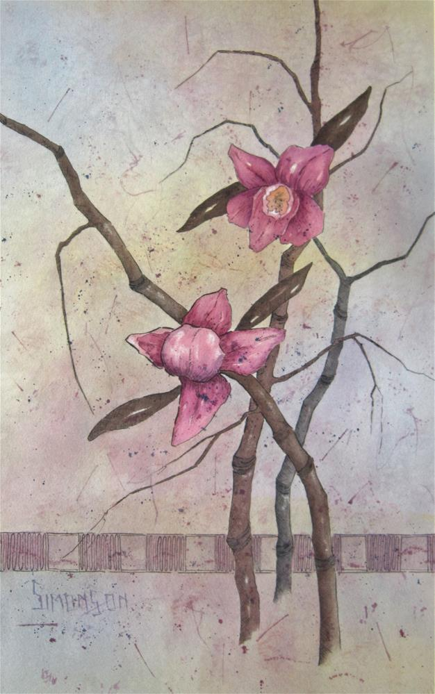 """Orchids V"" original fine art by Bev Simonson"