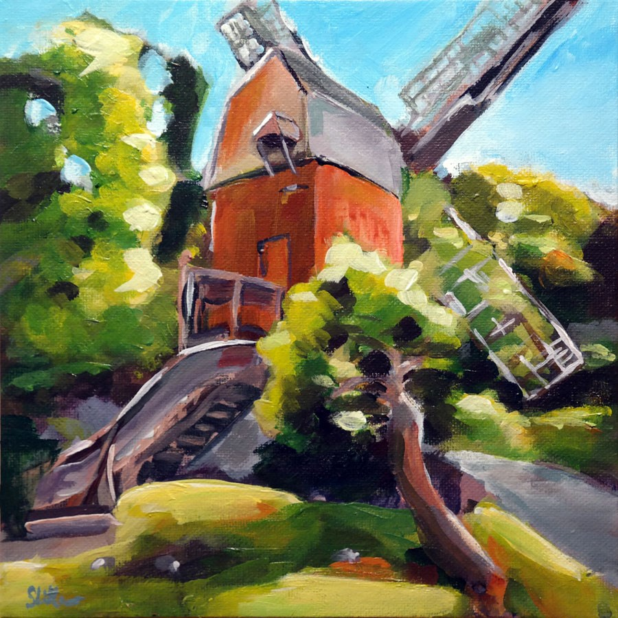 """1064 Windmills"" original fine art by Dietmar Stiller"