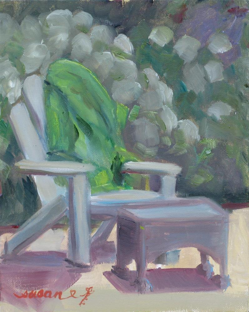 """Poolside"" original fine art by Susan Elizabeth Jones"