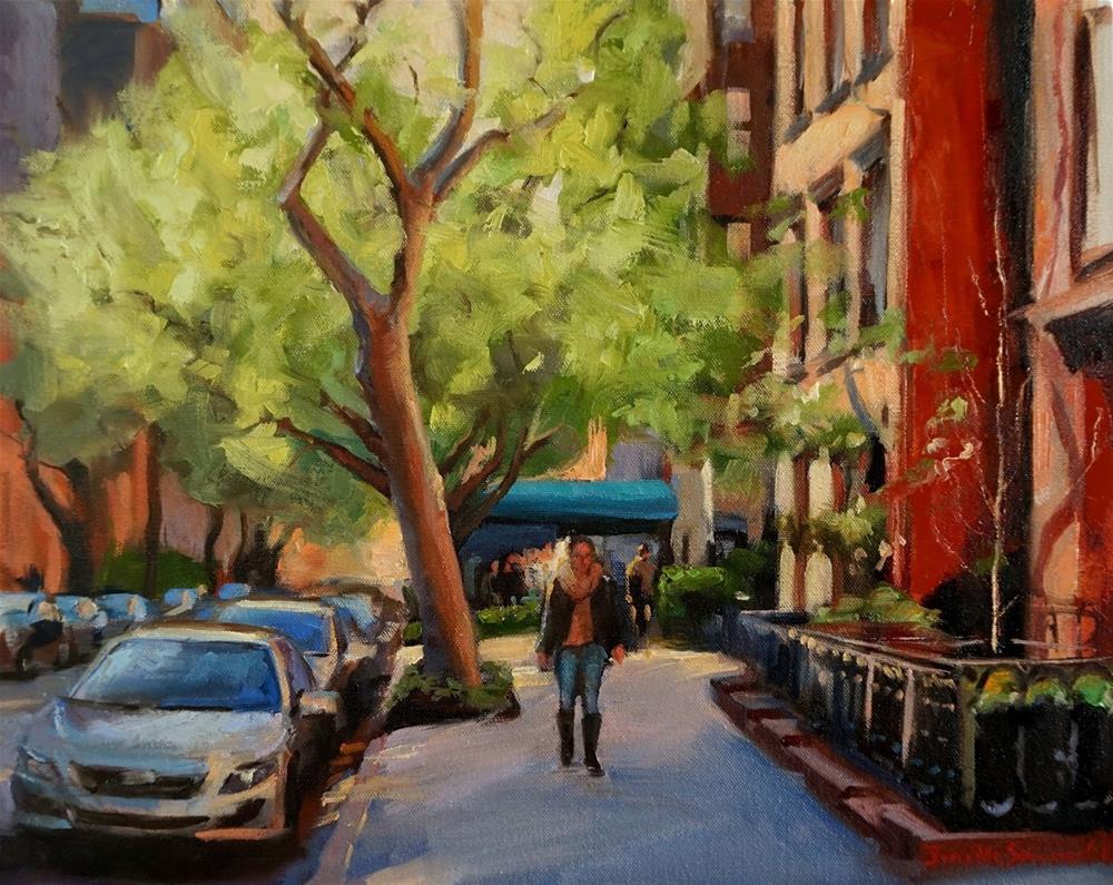 """""""A Quiet Street in Manhattan"""" original fine art by Jonelle Summerfield"""