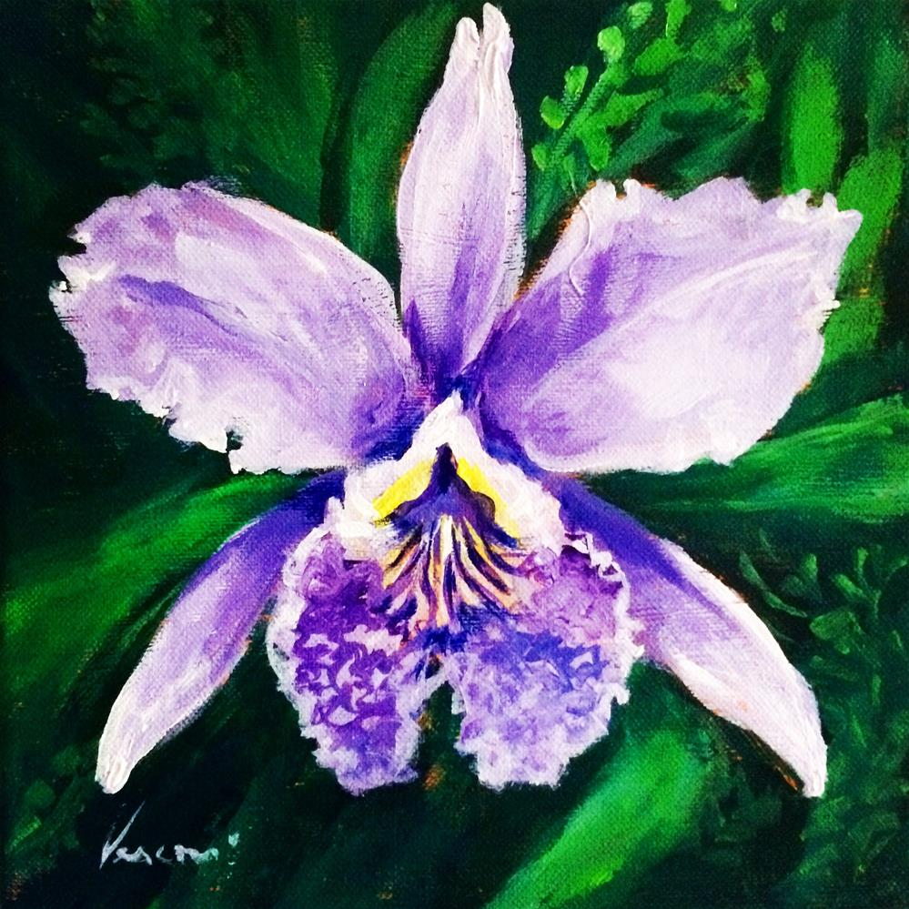 """Orchid 2"" original fine art by Valerie Vescovi"