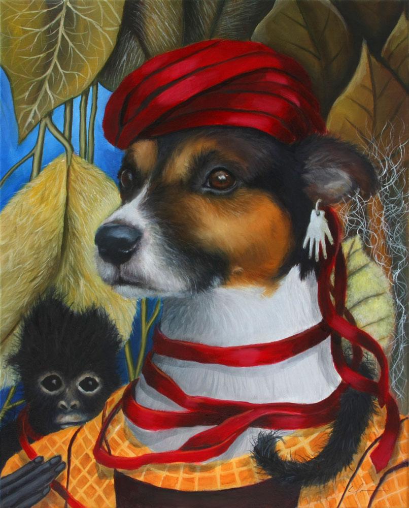 """Frida Dog for International Artist Day"" original fine art by Clair Hartmann"