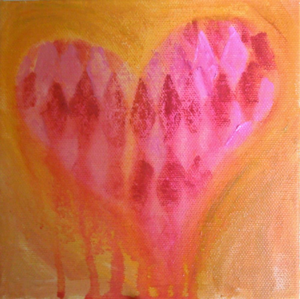 """""""Bleeding Heart"""" original fine art by Gerri Obrecht"""