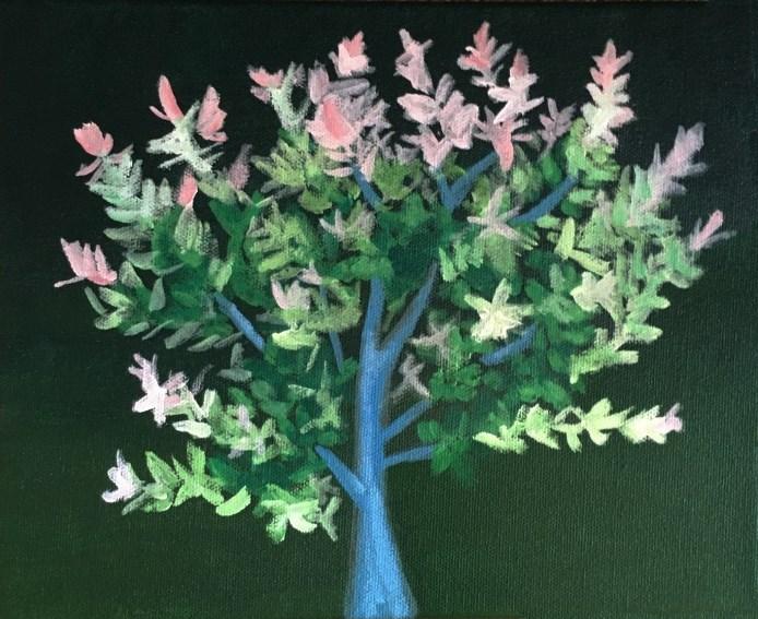 """Flowering Tree"" original fine art by Betsy Cook"