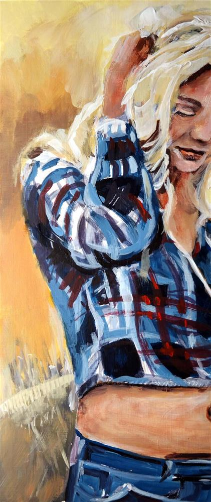 """3096 CowGirl"" original fine art by Dietmar Stiller"