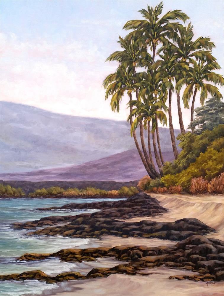 """""""Kiholo Palms"""" original fine art by Jeannie Garcia"""