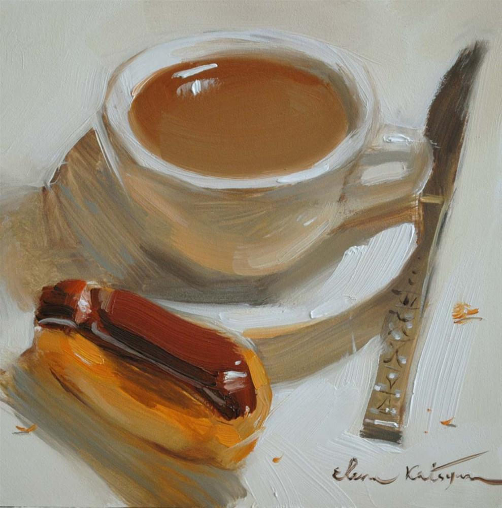 """A Simple Breakfast"" original fine art by Elena Katsyura"