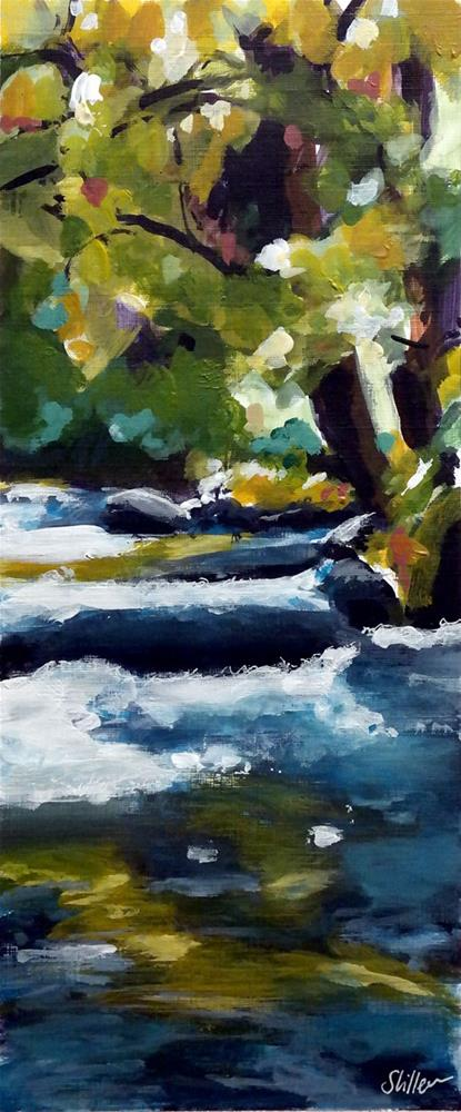 """1953 Rushing River"" original fine art by Dietmar Stiller"