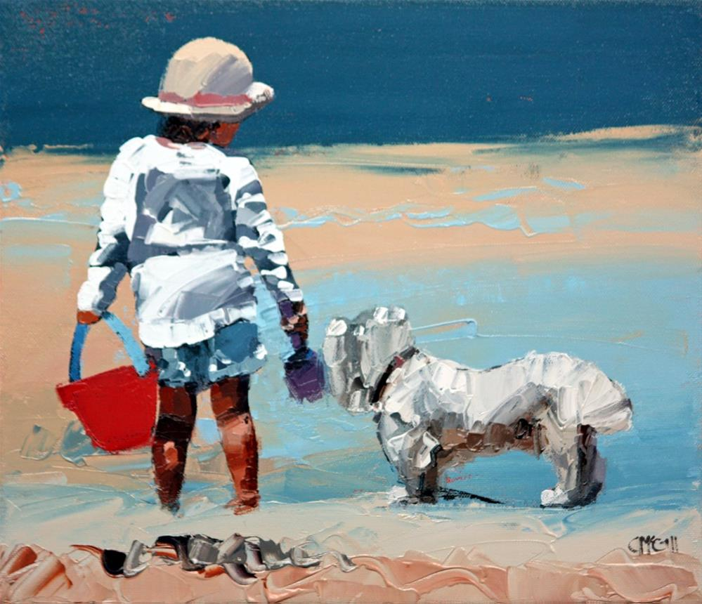 """""""Sand Play Petite III"""" original fine art by Claire McCall"""