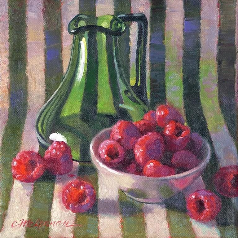 """Berry Green"" original fine art by Connie McLennan"