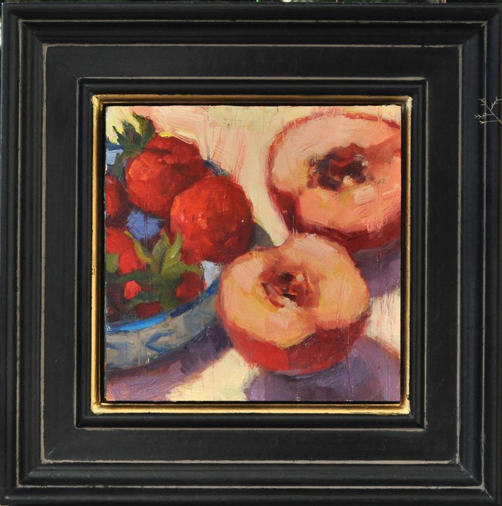 """""""Peachy"""" original fine art by Emiliya Lane"""