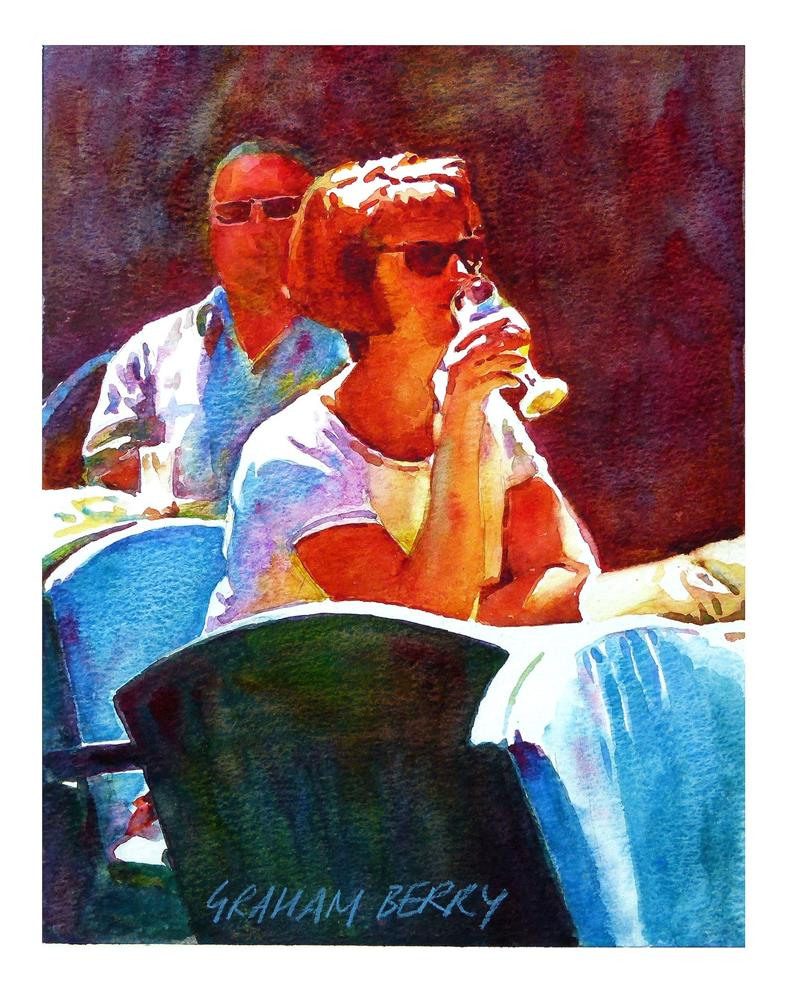 """""""A cooling drink"""" original fine art by Graham Berry"""