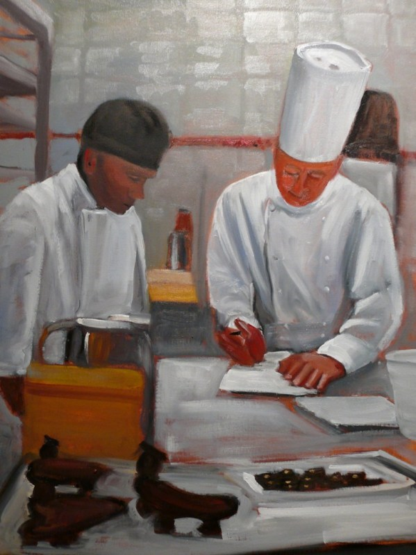 """649 Planning the Menu"" original fine art by Darlene Young"