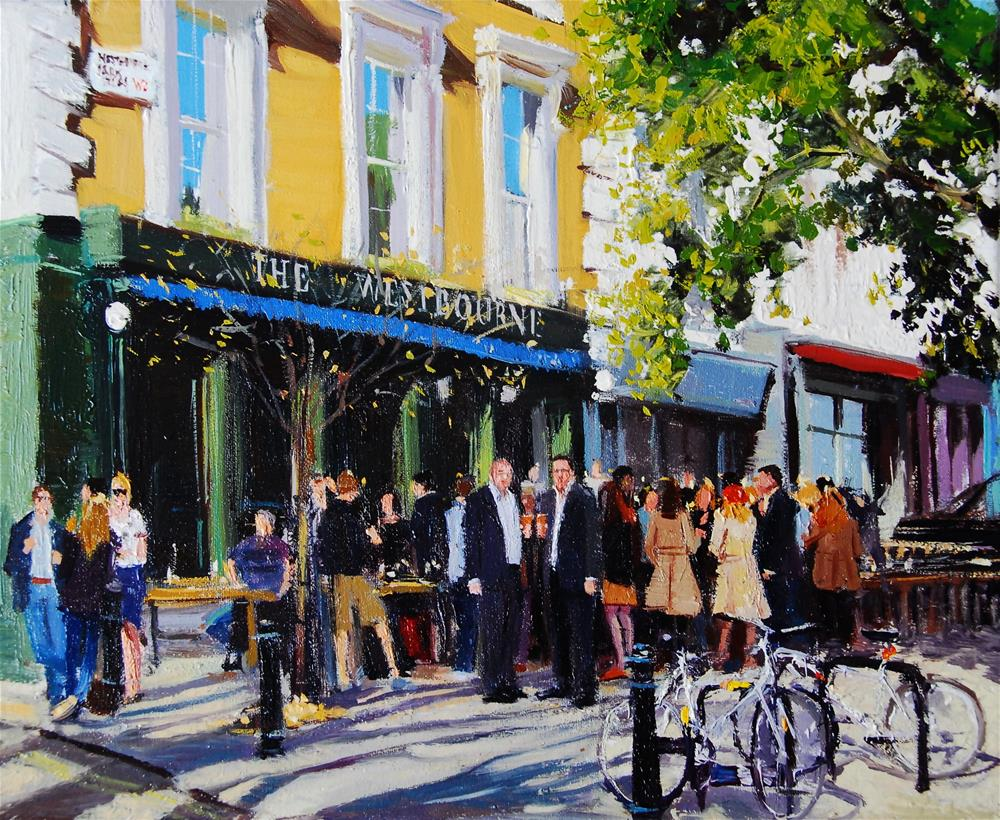 """Summerlight Westbourne Park"" original fine art by Adebanji Alade"