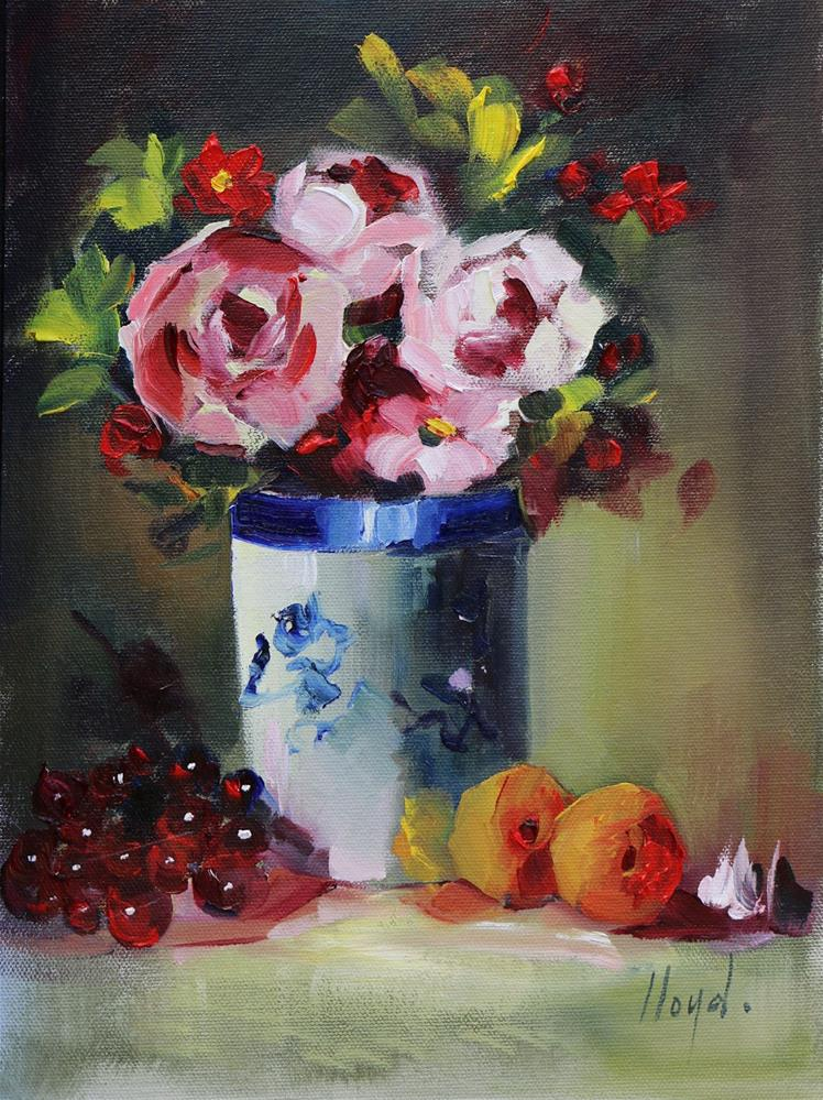 """Flowers and Fruit"" original fine art by Diane Lloyd"