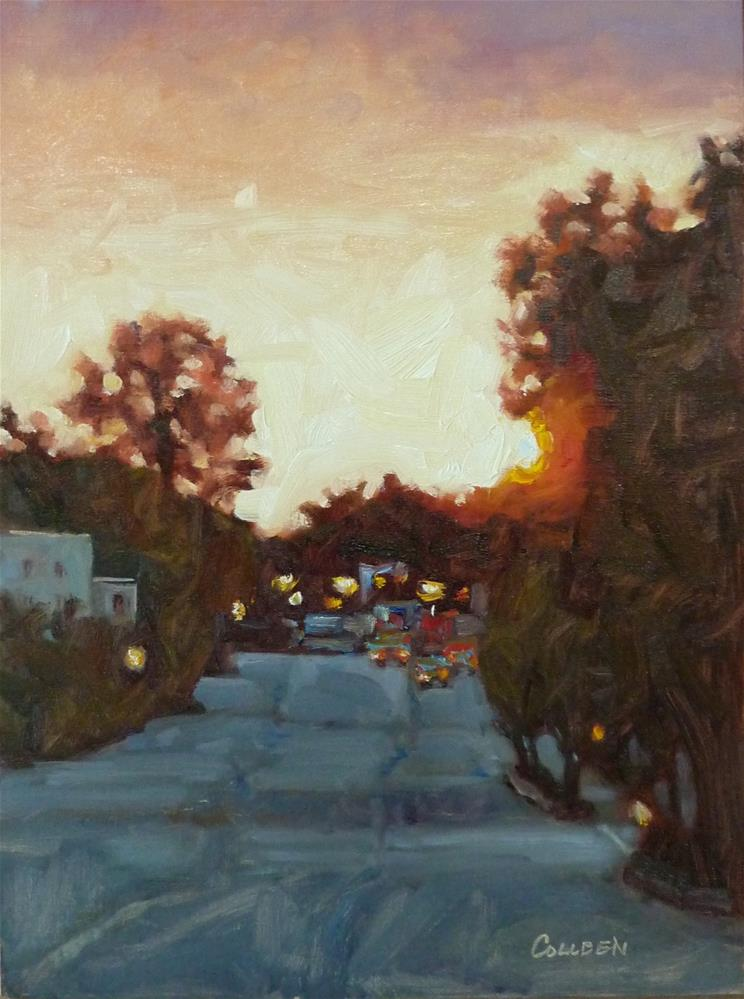 """""""Coming into Town"""" original fine art by Colleen Parker"""