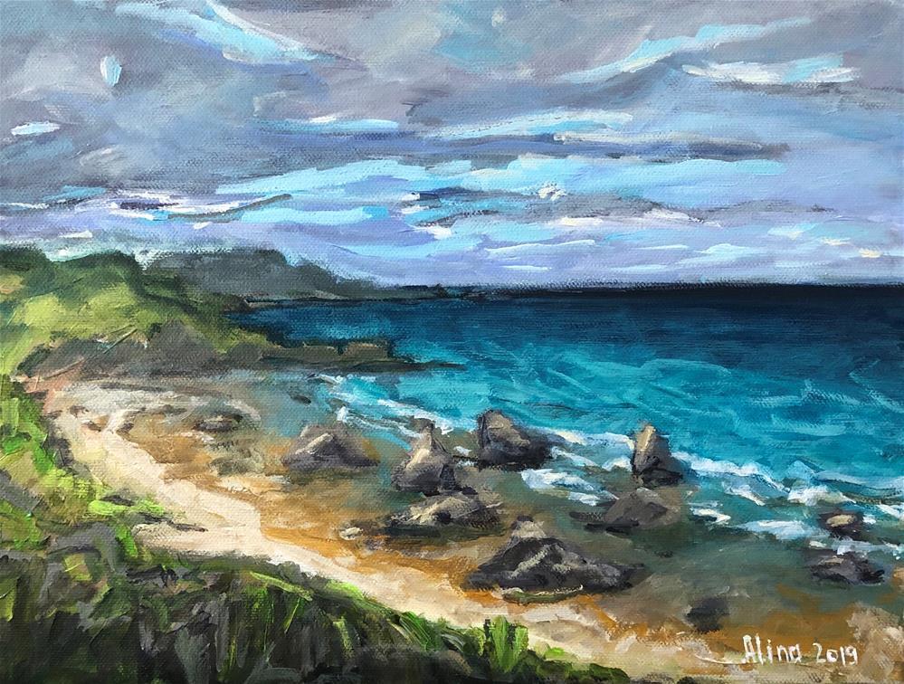 """""""Scottish Beach"""" original fine art by Alina Vidulescu"""