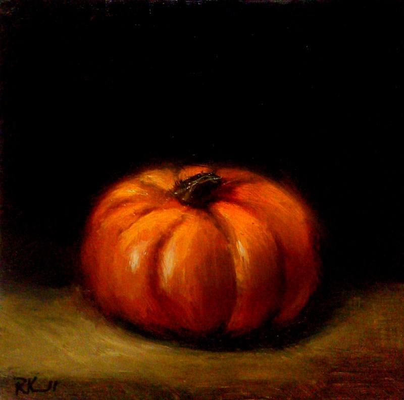 """""""September Pumpkin"""" original fine art by Bob Kimball"""