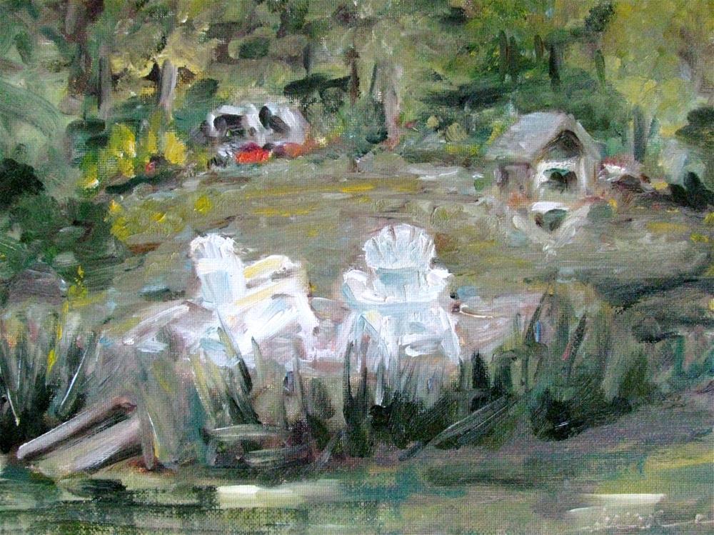 """Lake at Brandon Hall, Natchez, MS"" original fine art by Susan Elizabeth Jones"