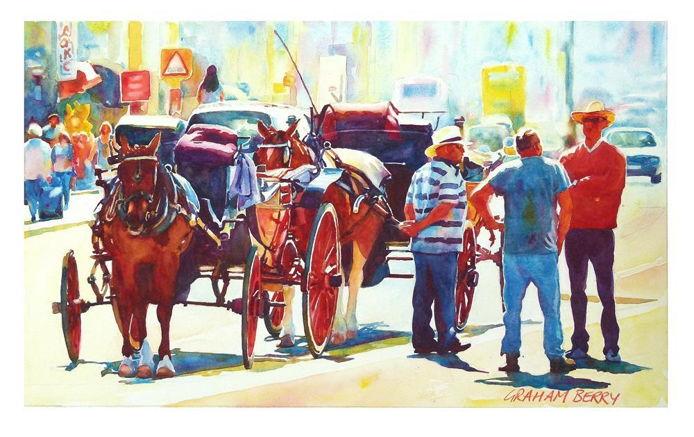 """Waiting for a fare."" original fine art by Graham Berry"
